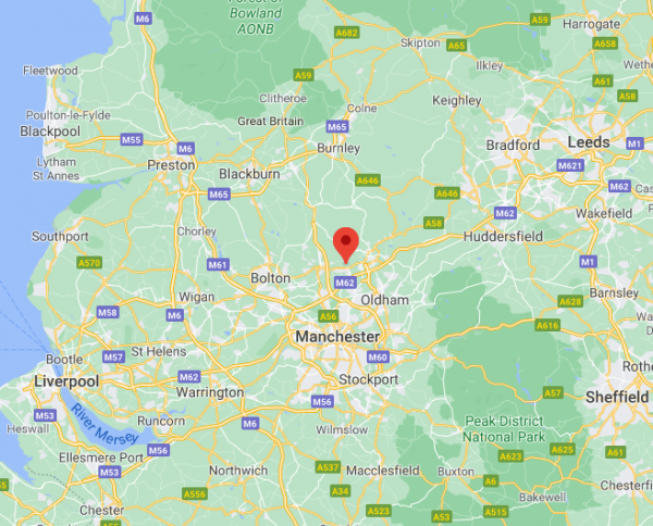 map of training location
